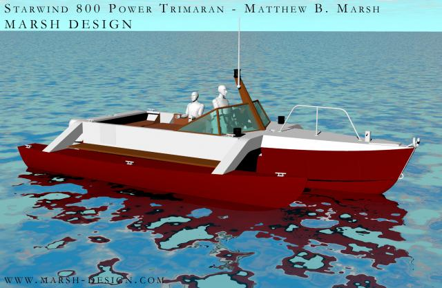 Starwind 800 power trimaran